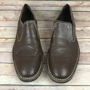 Cole Haan Men's Brown Leather Slip On Dress Shoes